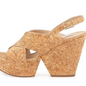 Diane Von Furstenberg Liberty Cork Sandals